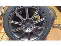 """Subaru Impreza sti widetrack 17"""" alloys dunlop DIREZZA DZ03"""