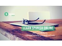 Private online Spanish lessons.