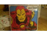 Huge MARVEL IRON MAN canvas. Brand new in packaging.