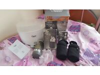 Tommee tippee electric sterliser with bottle bag warmers flask milk pots