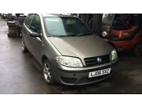 2006 Fiat Punto Active 8v 3dr 1.2 Petrol Grey BREAKING FOR SPARES
