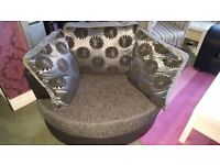 Black and Grey Cuddle Chair