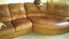 Corner sofa and chair fair condition