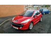 2008 57 peugeot 207 1.6 sport stunning looks condition looks and performance