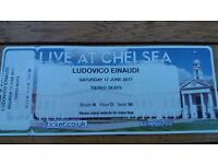 1 x ticket - Ludovico Einaudi - Saturday 17 June 2017 - Live At Royal Chelsea Hospital