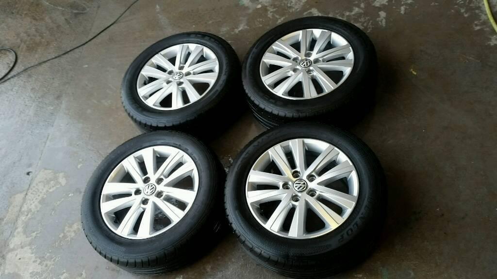 "17"" Cascavel T6 Alloy Wheels & Tyres VW Volkswagen Transporter T5 Highline Van"