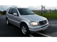 2000 X-REG MERCEDES ML270 CDI AUTOMATIC 4X4 12 MONTHS MOT 7 SEATER TOWBAR FULL LEATHER!!!
