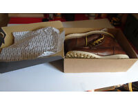 SIZE 11 -JACK JONES BROWN LEATHER BOOTS- STILL IN BOX--- £40