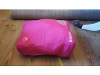 Childs pink sleeping bag pod