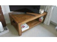 Rustic Style Oak Coffee Table