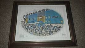 Last derby at maine road mancheser city limited edition print