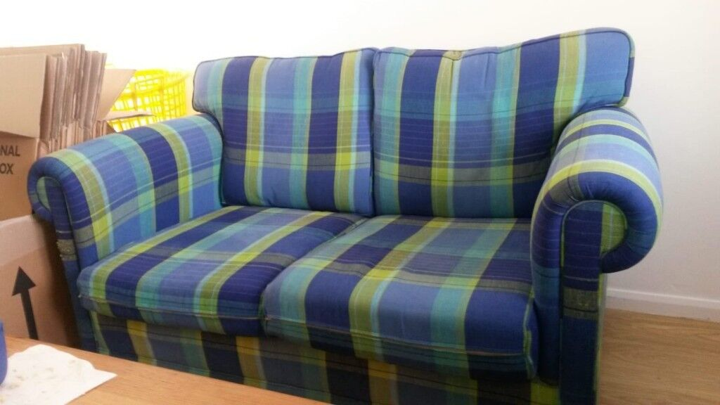 Terrific 2 Sofa Workshop Sofas Beautiful Designer Guild Blue Green Check Upholstery Can Sell Separately In Stirling Gumtree Caraccident5 Cool Chair Designs And Ideas Caraccident5Info