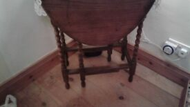 Antique folding table