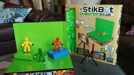 Like New! Stikbot animation studio with green screen