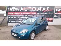 2012 (62) FIAT PUNTO 1.4 EASY 3 DOOR HATCH BLUE NEW MOT 70K F/S/H CD ALLOYS R/C/L 2 KEYS E/W + MORE