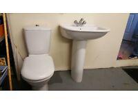 Bathroom Hand Basin & Toilet