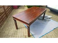 antique Edwardian fining table solid wood