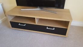 Wooden TV unit and 2x nest of tables set