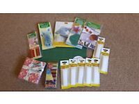 Sewing Bundle: Threads, Fabric, Iron On Transfer, Hemming, Flower Maker/Template