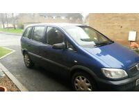 Blue Vauxhall zafira