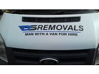 Removal company with man and van service luton van with tailift