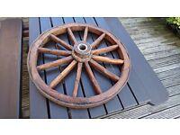 Wagon wheel Original Vintage Antique Genuine old wooden cart wheel