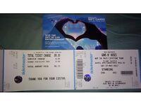 1 Guns N Roses Ticket Slane Castle Dublin Sat 27th May