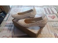Ivory Wedding Shoes Size 8