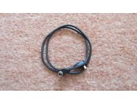 16 inch long flashgun extension lead in black.