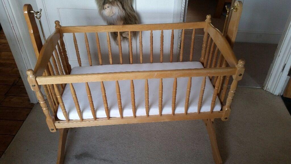 lovely wooden crib