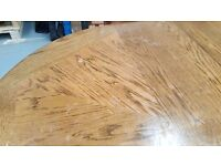 6 Seater Solid Wood Dining Table and Chairs (Great Shabby Chic Project)