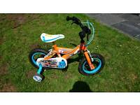 "Kids Disney Planes 12"" Bike with removable stabilisers"