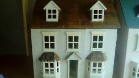 Large doll's house with tiled roof
