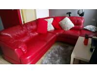 Red courner sofa