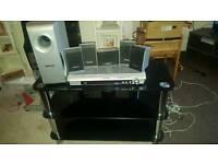 Panasonic dvd player,surround sound and tv unit
