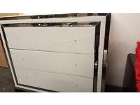 3 drawer mirror cabinet white