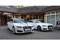 Midland Chauffeurs Car Hire for Weddings, Reception, Proms, Airports, Audi, Mercedes, Bentley