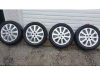 Vauxhall Genuine 16 '' alloy wheels + 4 x tyres 205 50 16