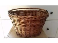 Bicycle shopping picnic willow basket with handle brand new