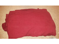 Bed Cover / Sofa Throw Red