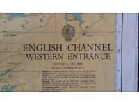 Assorted Admiralty Charts English Channel, Brittany etc