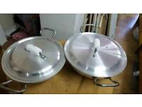 Cooking pans/pots new 2 with lids