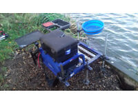 Fishing Seat Box - Complete Portable Setup with Trolley