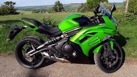 KAWASAKI ER6F-650R Ninja Sport Touring Motorcycle. 62 Reg. 650cc Spyball Alarm-Immobiliser