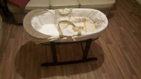 Un-used moses basket.