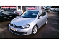 2009 VW GOLF 2.0L GT TDI 140 BHP SILVER 5 DOOR HATCH ONLY 75K F/S/H NEW MOT R/C/L CD E/W ALLOYS +