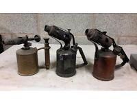 Vintage paraffin blowlamps