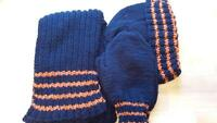 Handknit Hat, mitten and scarf sets
