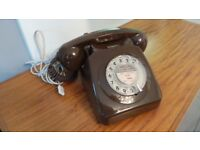 Stunning Chocolate Brown Vintage BT Telephone - Works 100% Smooth dialing action