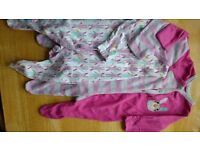 3 sleepsuits - Mothercare - used